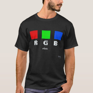 Retro RGB Pixel Basic Dark T-Shirt