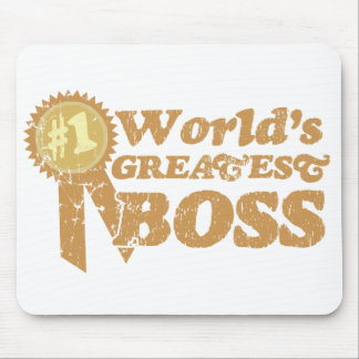 Retro Ribbon Great Boss Mousepad