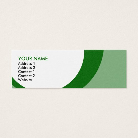 retro rings greens mini business card