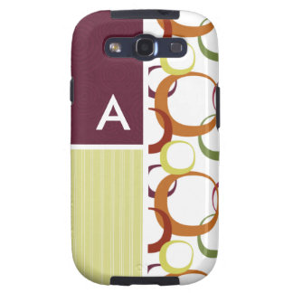 Retro Rings Pattern Galaxy S3 Cover