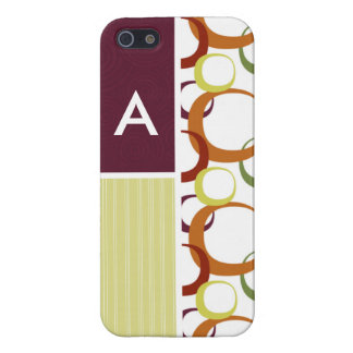 Retro Rings Pattern iPhone 5 Cases