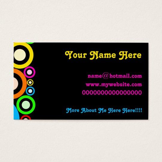 Retro Rings Wallpaper Business Card