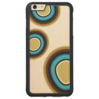 Retro Rings Wood iPhone Case