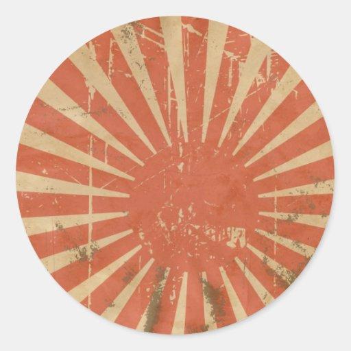 Retro Rising Sun Sticker
