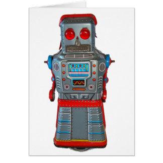 Retro Robot Blank Greeting Card