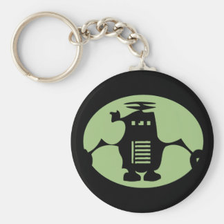 Retro Robot - Green Spotlight Keychains