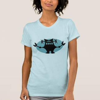 Retro Robot in Blue Tee Shirts