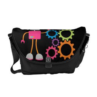 Retro Robot Messenger Bags
