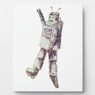 Retro Robot Photo Plaques