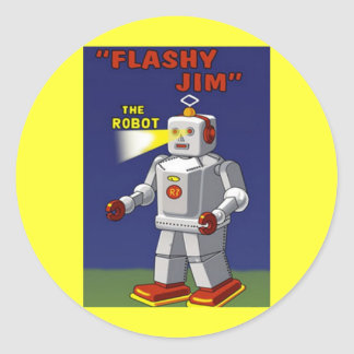RETRO ROBOT STICKER 2