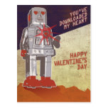 Retro Robot - You've Downloaded My Heart ... Post Card