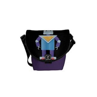 Retro Robots Courier Bags