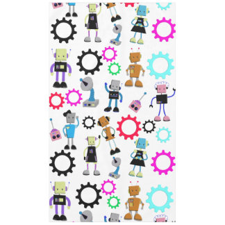 Retro Robots Tablecloth