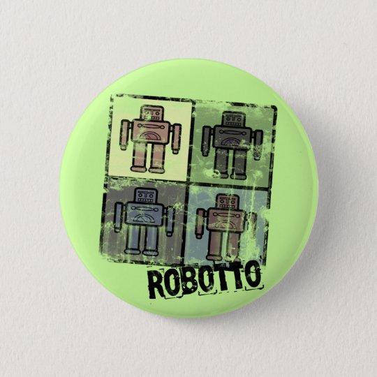 retro robotto badge