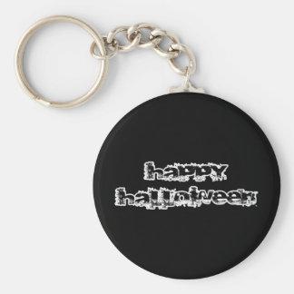 Retro Rock Happy Halloween Basic Round Button Key Ring