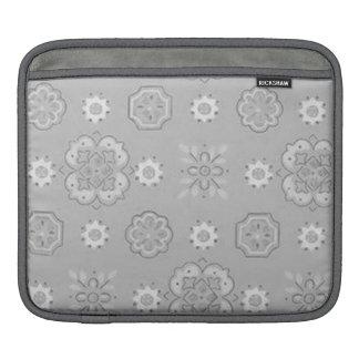 Retro Rockabilly Vintage Bandanna Silver Gray iPad iPad Sleeves