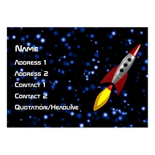 Retro Rocket 3d Business Card Template