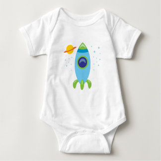 Retro Rocket Baby Bodysuit