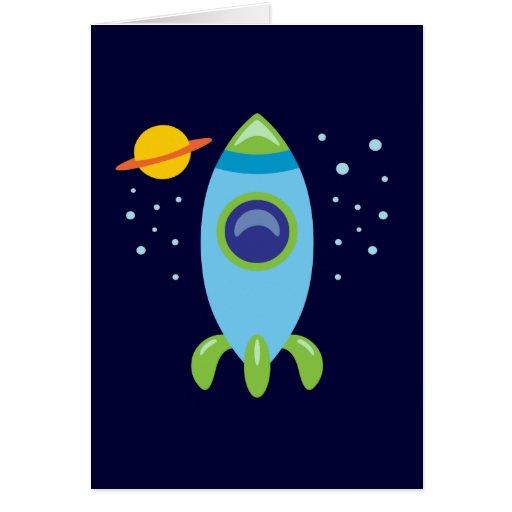 Retro Rocket Cards