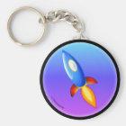 Retro rocket keychain