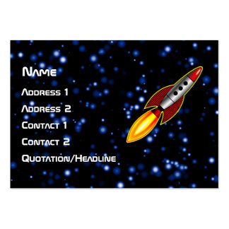 Retro Rocket Pack Of Chubby Business Cards