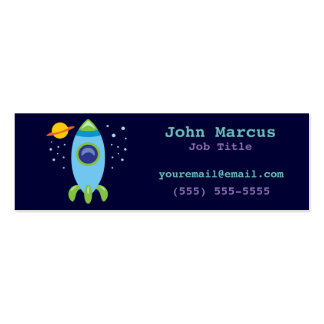 Retro Rocket Pack Of Skinny Business Cards