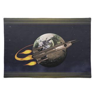 Retro Rocket Placemat