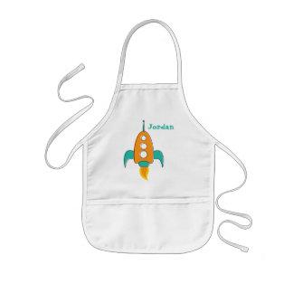 Retro rocket ship apron