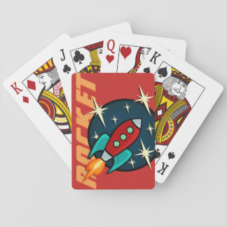 RETRO ROCKET SHIP DECK OF PLAYING CARDS