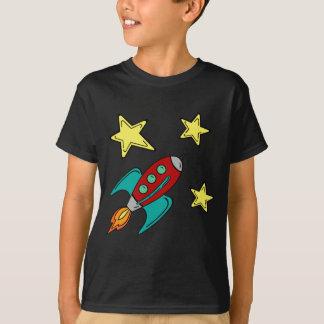 retro rocket ship t-shirt