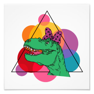 Retro Rockin' T-Rex (girl) Art Photo