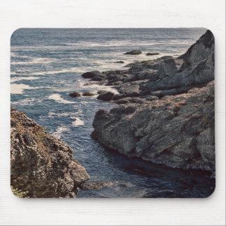 Retro Rocky California Coast Image Mouse Pad