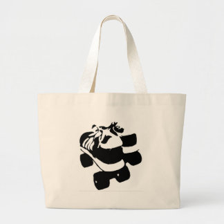 Retro Rollerboots Large Tote Bag