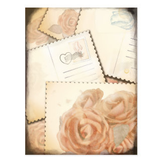 Retro romantic background, postcard