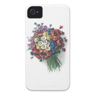 Retro Romantic Colorful Vintage Floral Bouquet Case-Mate iPhone 4 Cases