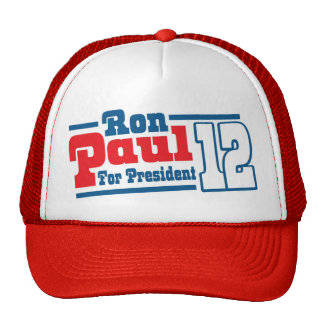 Retro Ron Paul For President 2012 Tea Party Hat