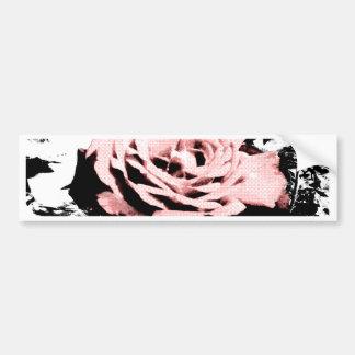 Retro Rose Bumper Sticker