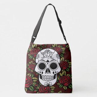 Retro roses art sugar skull pretty tote bag