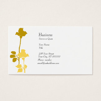 Retro Roses Profile Card Modern Golden Rose