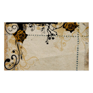 Retro roses Profile Card Pack Of Standard Business Cards
