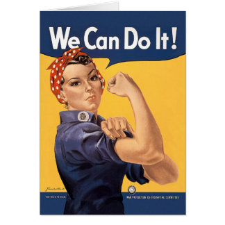 Retro Rosie We Can Do It Greeting Card