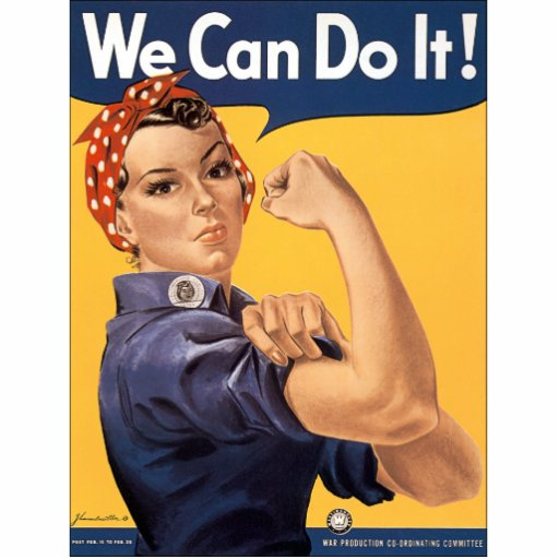 Retro Rosie We Can Do It Photo Cutouts
