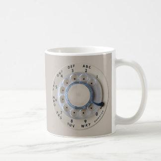 Retro Rotary Phone Dial Basic White Mug
