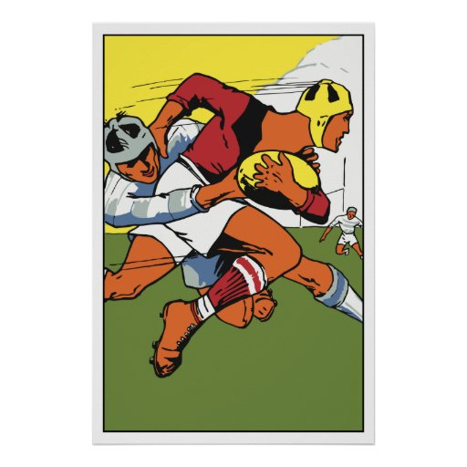 Retro rugby championship ad posters