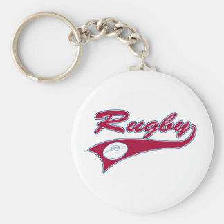 Retro Rugby Key Ring