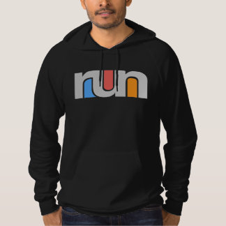 Retro Run, White Hoodie
