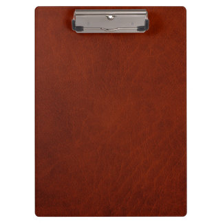 Retro Rustic Brown Rust Leather Clipboard