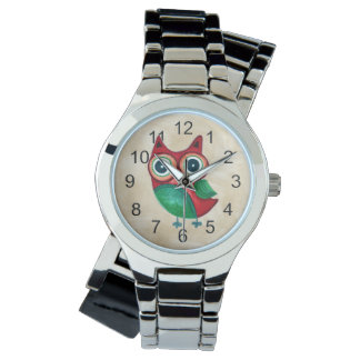 Retro Rustic Custom Owl Watch