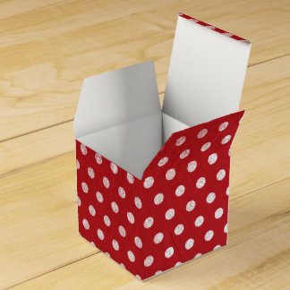 Retro Rustic Polka Dots Favour Box