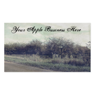 Retro Rustic Spring Apples Trees Beautiful Orchard Double-Sided Standard Business Cards (Pack Of 100)